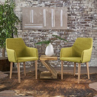 Alistair Mid-Century Fabric Dining Chair (Set of 2) by Christopher Knight Home