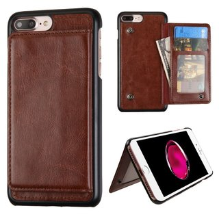 Insten Brown Leatherette Case Cover with Stand/ Wallet Flap Pouch/ Photo Display For Apple iPhone 7 Plus