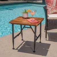 Eleanora Outdoor Acacia Wood End Table by Christopher Knight Home