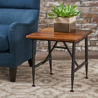 Ocala Acacia Wood End Table by Christopher Knight Home