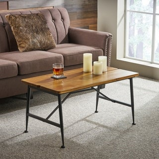 Eleanora  Acacia Wood Coffee Table by Christopher Knight Home