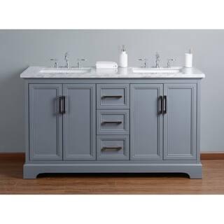 60 inch vanity with double sink. Stufurhome Ariane 60 in  Grey Double Sink Bathroom Vanity Size Vanities 51 Inches