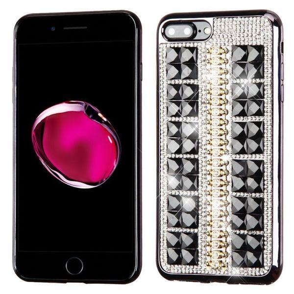 Insten Black Hard Snap-on Diamond Bling Case Cover For Apple iPhone 7 Plus