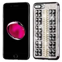 Insten Black Hard Snap-on Diamond Bling Case Cover For Apple iPhone 7 Plus