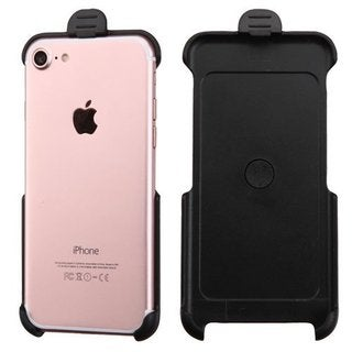 Insten Black Hard Snap-on Rubberized Matte Case Cover with Holster For Apple iPhone 7