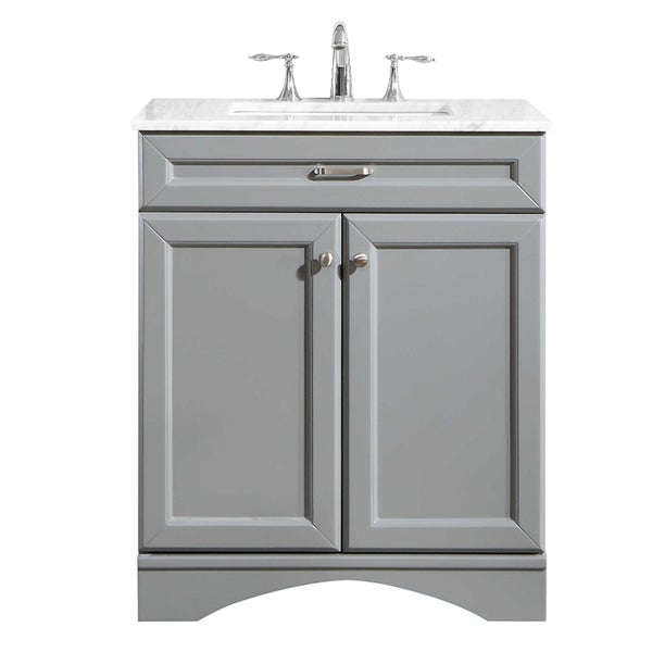 "Naples 30"" Vanity in Grey without Mirror"