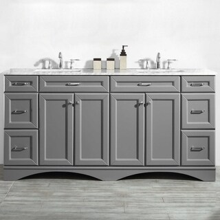 """Naples 72"""" Double Vanity in Grey without Mirror"""
