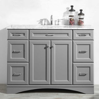 "Link to Naples 48"" Vanity in Grey without Mirror Similar Items in Bathroom Vanities"