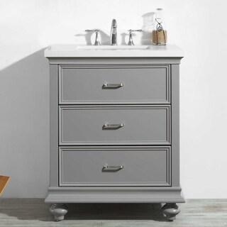 Venice Grey/White Oak/Quartz 30-inch Vanity