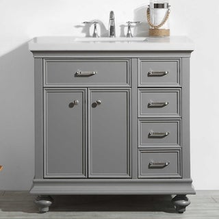 Charlotte Grey 36-inch Vanity in Grey without Mirror