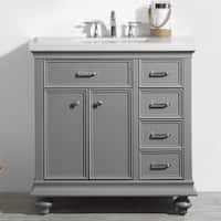 "Charlotte 36"" Vanity in Grey without Mirror"