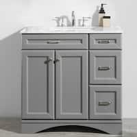 "Naples 36"" Vanity in Grey without Mirror"
