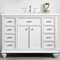 """Charlotte 48"""" Vanity in White without Mirror"""