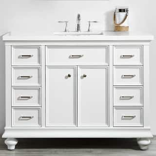 Charlotte 48 Vanity In White Without Mirror