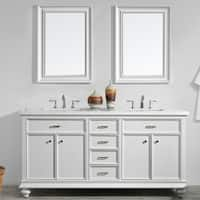 "Charlotte 72"" Double Vanity in White"
