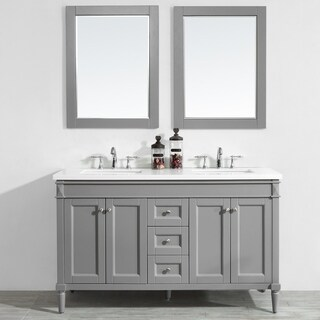 "Catania 60"" Double Vanity in Grey"