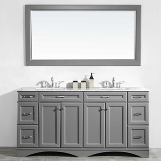 "Naples 72"" Double Vanity in Grey"