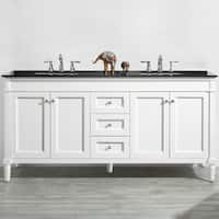 """Catania 72"""" Double Vanity in White without Mirror"""
