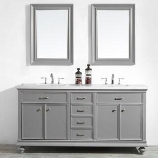 "Charlotte 72"" Double Vanity in Grey"