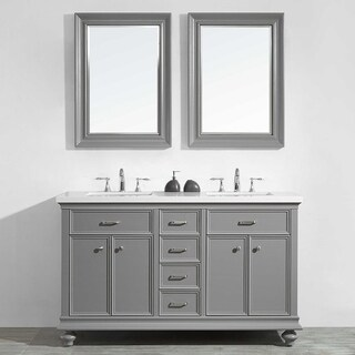 "Charlotte 60"" Double Vanity in Grey"
