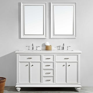 "Charlotte 60"" Double Vanity in White"