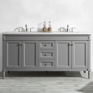"""Catania 72"""" Double Vanity in Grey without Mirror"""