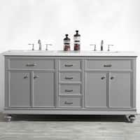 """Charlotte 72"""" Double Vanity in Grey without Mirror"""