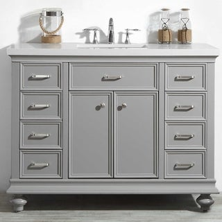 """Charlotte 48"""" Vanity in Grey without Mirror"""