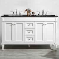 "Catania 60"" Double Vanity in White without Mirror"