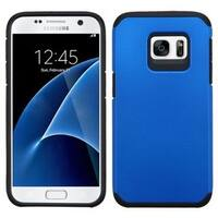 Insten Blue/ Black Hard PC/ Silicone Dual Layer Hybrid Rubberized Matte Case Cover For Samsung Galaxy S7