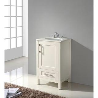 WYNDENHALL Hartford 20 Inch White Bath Vanity With Quartz Marble Top