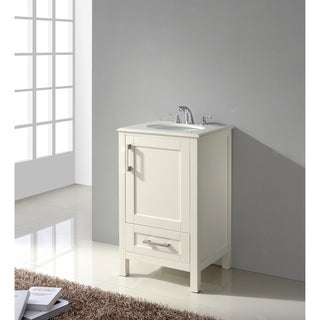 WYNDENHALL Hartford 20 inch White Bath Vanity with Quartz Marble Top
