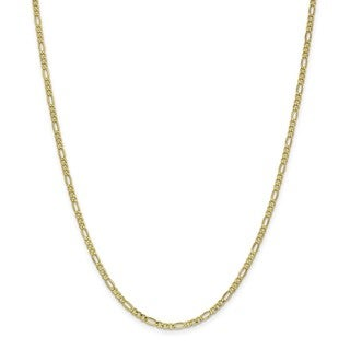 Versil 10 Karat Yellow Gold 2 5mm Figaro Chain