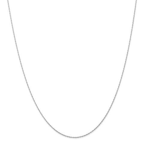 10 Karat White Gold .5 mm Carded Cable Rope Chain