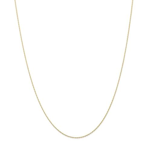 10K Yellow Gold .5mm Solid Polished Cable Rope Chain by Versil