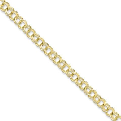 10 Karat Solid Double Link Charm Bracelet by Versil