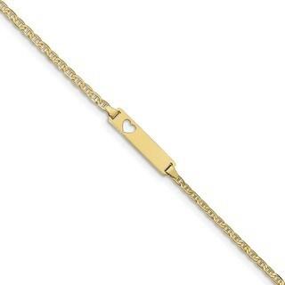 10 Karat Flat Anchor Link ID Bracelet
