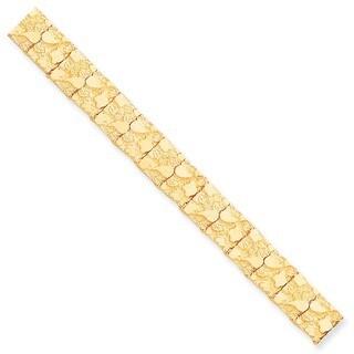 10 Karat 12.0mm NUGGET Bracelet