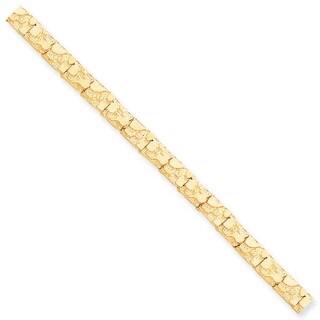 10 Karat 7mm NUGGET Bracelet