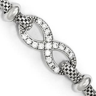 Sterling Silver CZ Infinity With 1.5in ext. Bracelet https://ak1.ostkcdn.com/images/products/16690736/P23009076.jpg?impolicy=medium
