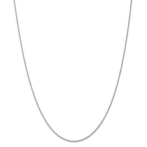 Versil 10 Karat White Gold .8mm Polished Lite Baby Rope Chain