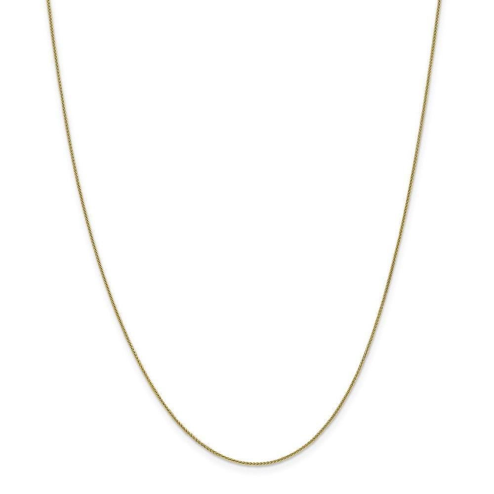14K White Neckalce 0.8MM 20 INCH Long 14k White Gold 0.80mm Spiga Pendant Chain