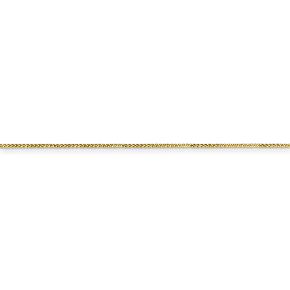 Top 10 Jewelry Gift 14k 0.80mm Spiga Pendant Chain