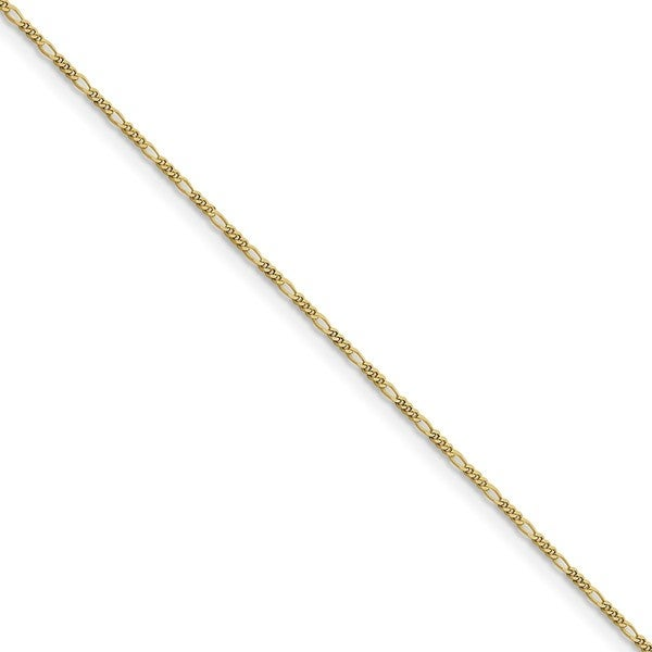 10 Karat 1.25mm Flat Figaro Chain