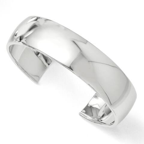 Versil Sterling Silver Polished Slip-on Bangle