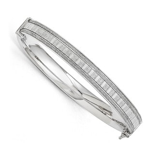 Sterling Silver Polished Glimmer Infused Bracelet