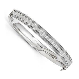 Sterling Silver Polished Glimmer Infused Bracelet https://ak1.ostkcdn.com/images/products/16690871/P23009199.jpg?impolicy=medium
