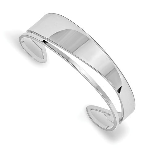 Sterling Silver Polished Fancy Cuff Bangle