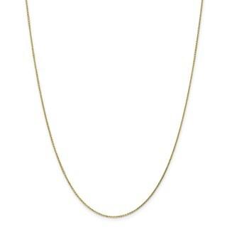 10 Karat .95mm Diamond Cut Cable Chain