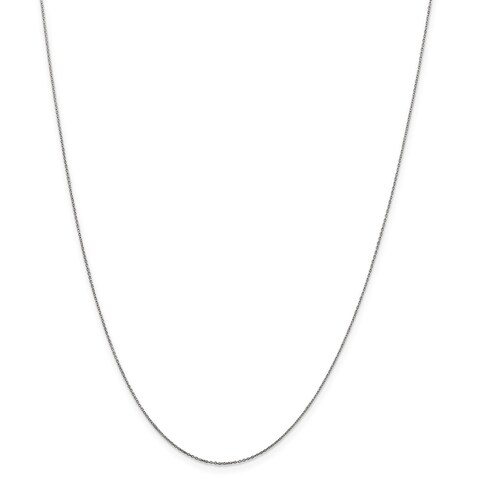 10 Karat White Gold .5mm Solid Diamond Cut Cable Chain